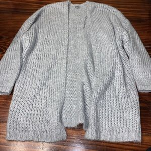 Aerie nwot grey oversized cardigan xs/small
